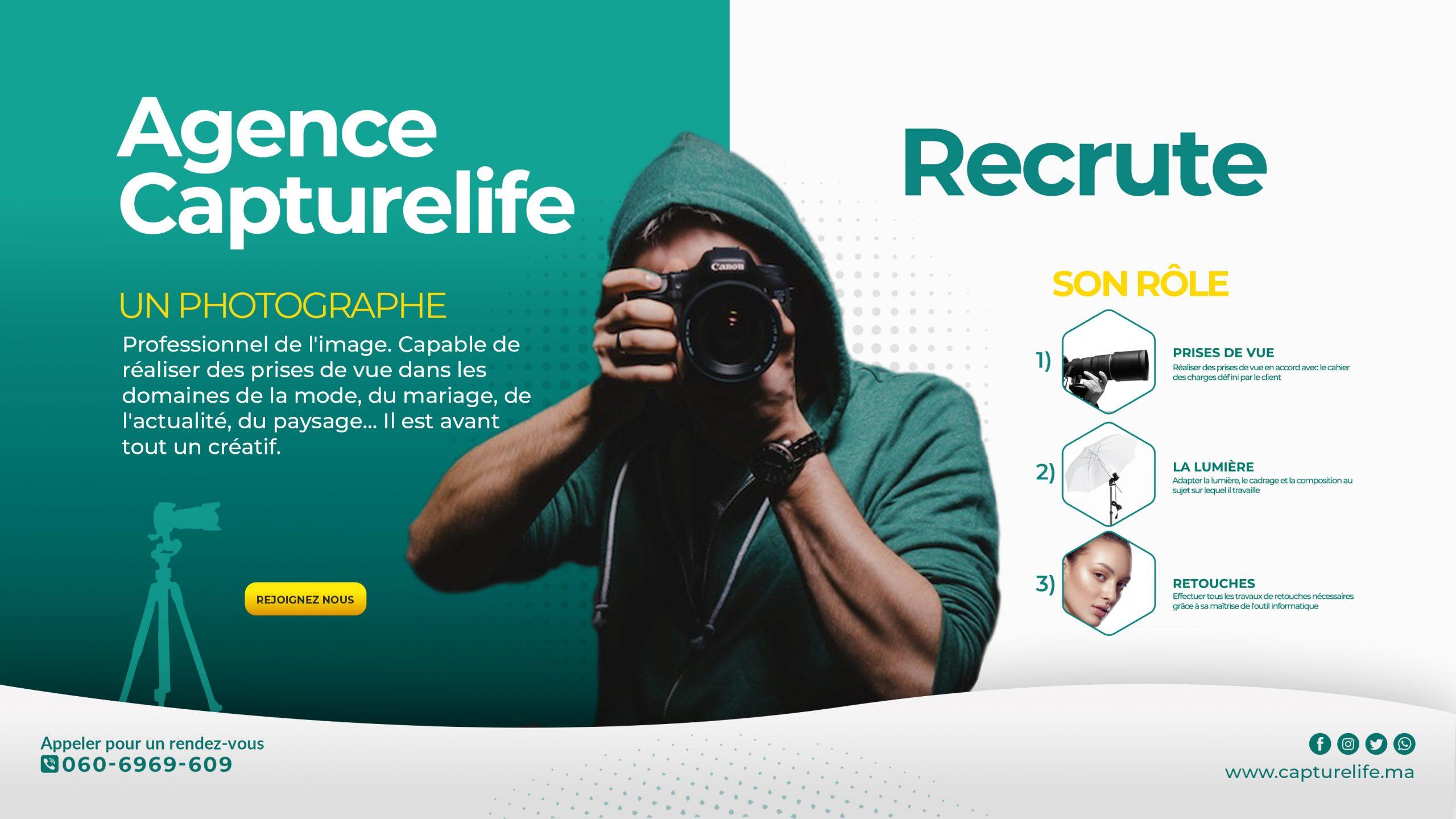 Photographe / stage pré-embauche rémunéré - CAPTURELIFE